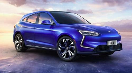 SERES首款新電動轎跑SUV SF5亮相展臺